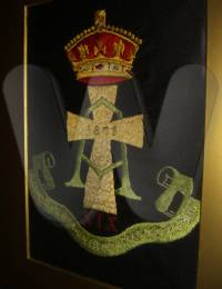 Fred's own working of his regimental emblem